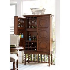 This is inspiration for converting dresser into a bar.