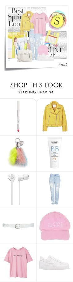 """""""PAGE2"""" by gizzemm97 ❤ liked on Polyvore featuring Post-It, Oris, Topshop, H&M, MANGO, Sophie Hulme, Ziaja, M&Co, Nasaseasons and NIKE"""