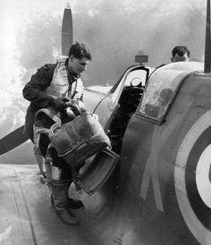Spitfire & pilot