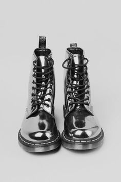 d463429eea9c07 Metallic Doc Martens add a distinctive edge to any outfit.