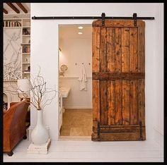 A gallery of sliding barn door designs and inspirations. Home decorating ideas that will make you want to reinvent your home. | anavitaskincare.com