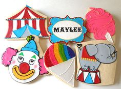 Circus Cookies - love these! #circus #food #cookies