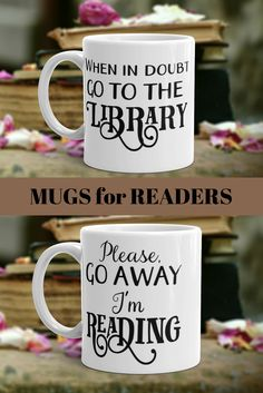 Gifts for readers. #bookloversgift #readermugs