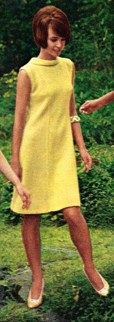 Knitting Pattern for Mod 60s Knit Shift Sweater Dress (PDF). $4.50, via Etsy.