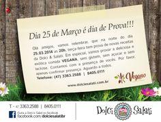 Convite Online Dolci & Salati - Prova de doces e salgados para VEGANOS e DIABÉTICOS.
