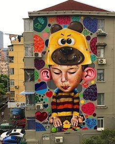 @sipros_sipros Shanghai China  _______________________ #madstylers #art #style #colorful #mural #stylewriting #streetart #sprayart #graffitiart
