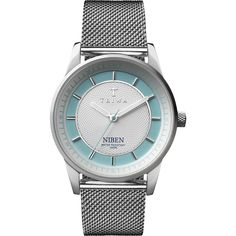 TRIWA Watch - Niben - Azure Steel Mesh (twistedtime.com)