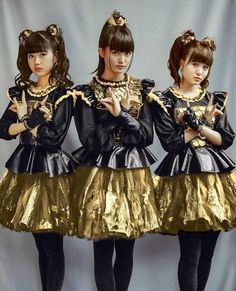 Babymetal, a Japanese metal hybrid band of these three ...