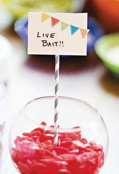 """Live Bait"" Gummy Worm Candy ~ I think this is what our resident fisherwoman needs for her birthday! @Becky Hui Chan Williams ;o)"