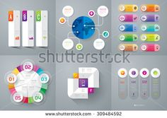 Infographic design template can be used for work flow layout, diagram, number options, web design. Business concept with 2, 3, 4, 5 and 10 options, parts, steps or processes. Abstract background. - stock vector
