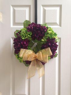 Guirnalda de flores puerta por HollycowCrafts en Etsy