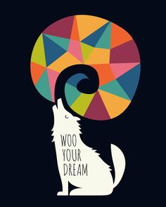 Poster | WOO YOUR DREAM AT NIGHT von Andy Westface | more posters at http://moreposter.de