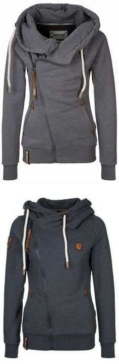 Keep your dream and go to have a look,this one fashion and warm is ready for you. The Traveller  Sweatshirt features fleece lining and drawstring hooded design. You deserve it at CUPSHE.COM  , free shipping!: