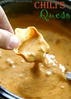 Chili's Queso – a copycat version of the famous cheesy dip.[EXTRACT]Chili's Queso – a copycat version of the famous cheesy dip.[EXTRACT]Chili's Queso – a copycat version of the famous cheesy dip. Dip Recipes, Mexican Food Recipes, Snack Recipes, Cooking Recipes, Chilis Copycat Recipes, Cooking Tips, Chili Recipes, Muffin Recipes, Crockpot Recipes