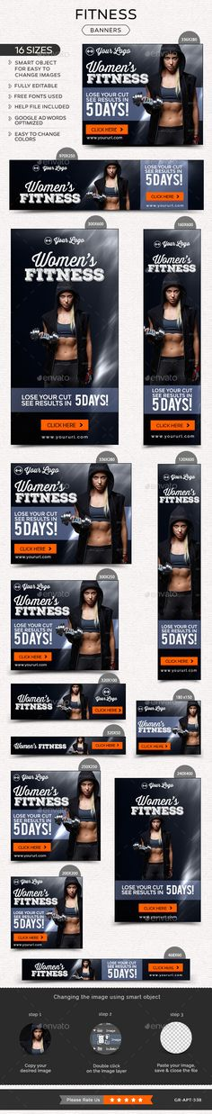 Fitness Banners Template