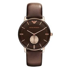 1ed3c917ecaf Classic Brown Dial Brown Leather Men s Watch Marca De Moda