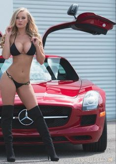 For decades, a sales technique at auto shows employs female models attired in tight dresses or miniskirts wearing uncomfortable heels, smiling and posing enchantingly. Sexy Cars, Hot Cars, Sexy Bikini, Bikini Girls, Sexy Autos, Carros Bmw, Swimsuits, Bikinis, Swimwear