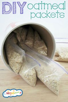 Homemade Instant Oatmeal Packets Recipe. I've been doing this on my own, but this is an actual recipe if I wanted to try something different.