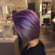 21 Looks That Will Make You Crazy for Purple Hair Having mermaid, multi-colored hair is all the rage these days and you may have noticed a little recently, StayGlam delved into the world of blue hair. Whether you're thinking of getting rid of your Light Purple Hair, Lilac Hair, Hair Color Purple, Pastel Hair, Hair Colors, Silver Purple Hair, Short Purple Hair, Purple Bob, Short Hair Trends