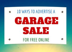 The MamaZone: Advertising a Garage Sale For Free