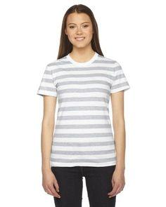 American Apparel Womens Fine Jersey Short-Sleeve T-Shirt (2102), Women's, Size: XL, Grey