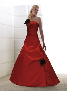 red wedding gown size 8