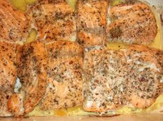 Fish Recipes, Banana Bread, Salmon, Food And Drink, Keto, Yummy Food, Chicken, Desserts, Xmas