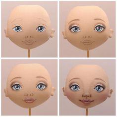 """218 Likes, 30 Comments - Катя Байкова (@barrashka_dolls) on Instagram: """"Вот так я расписываю личики своим куколкам. Сначала рисую черты лица в карандаше. Первыми…"""""""
