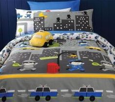 Cops n Robbers Quilt Cover Set (single), $38.90