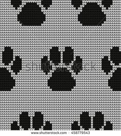Seamless knitted pattern in rhombuses