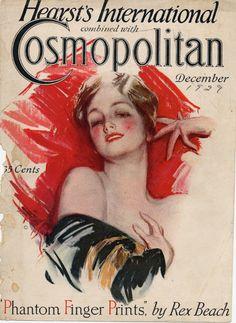 Cosmopolitan magazine, DECEMBER 1929 Artist: Harrison Fisher