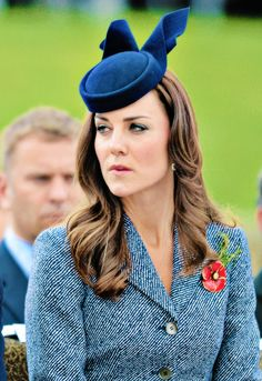 4/25/14, Wearing a poppy pin presented to her by Emma Roberts-Smith, wife of Victoria Cross for Australia recipient Ben Roberts-Smith.