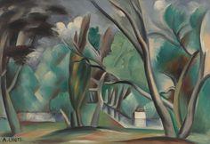 André Lhote (Fr., 1885 - 1962), Riverbank, 1912, oil on canvas, 56.04 x 80.96 cm