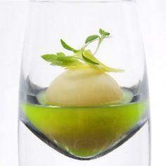 "Molecular Gastronomy:"" It is the NEW new cuisine"" - Apple Horseradish Celer"