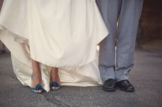 I don't think the bride should ever wear white shoes...
