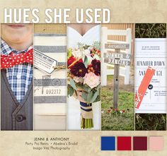 Wedding inspiration in navy and red. Photos by Imago Vita Photography. #wedding #navy #red #rustic #preppy