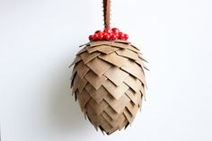 Splitcoaststampers - Pine Cone Ornament tutorial by Jackie Doremus