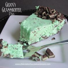 Grasshopper Pie-Chocolate Cookies, Andes Mint Candies and Creme de Menthe Combine to make this delightful frozen treat!