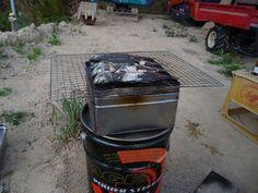 南の村から: ロケットストーブでアジ竹の子定食