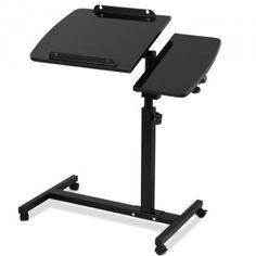 Adjustable Mobile Laptop Desk Laptop Notebook Computer iPad Ergonomic Black