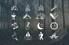 Medialoot - Hand Drawn Camping Vector Icons