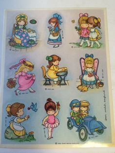Vintage Joan Walsh Anglund Friends Full Sticker Sheet 9 Stickers 1984 | eBay
