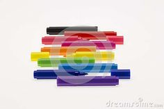 Color Pens On White Background - Download From Over 39 Million High Quality Stock Photos, Images, Vectors. Sign up for FREE today. Image: 65217471