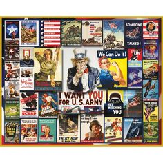 WWII Poster Collage Jigsaw Puzzle