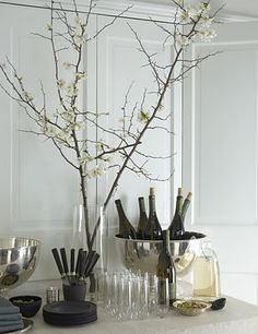 silver black & raw branches - beauty