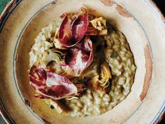 nice Recipes At Masseria Moroseta in Puglia, Giorgia Goggi cooks with artichokes from her garden, and is sure to include plenty of their edible stems. Artichoke Soup, Roasted Artichoke, Artichoke Recipes, Italian Side Dishes, Vegetable Stew, Bowl Of Soup, Spring Recipes, Food Dishes, Rice Dishes