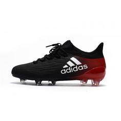Baratas 2017 Adidas X 16 Purechaos FG AG Negro Rojo Botas De Futbol