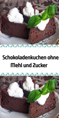 Chocolate cake without flour and sugar. After all sorts of sweet treats .- Chocolate cake without flour and sugar. After all sorts of sweet treats, you sometimes have an appetite for a healthy version of the sweet. Easy Chocolate Desserts, Chocolate Cake Recipe Easy, Chocolate Cookie Recipes, Easy Cookie Recipes, Low Carb Desserts, Healthy Dessert Recipes, Easy Desserts, Cake Recipes, Cake Chocolate