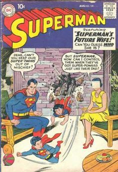 Married - Wife - Super-twins - Children - Smash - Curt Swan