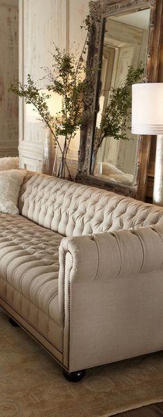 Old Hickory Tufted Sofa